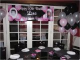50th Birthday Party Decorations Black and Silver Birthday Party Decor theme Pink Silver Black 50th