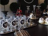 50th Birthday Party Decorations Black and Silver Masculine Male Birthday Decor Black White Silver for A