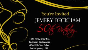 50th Birthday Party Invitation Samples 50th Birthday Invitations and 50th Birthday Invitation