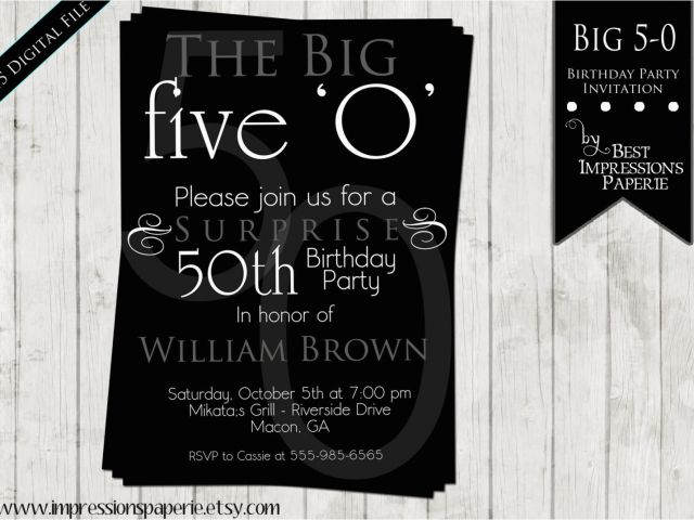 Download By SizeHandphone Tablet Desktop Original Size Back To 50th Birthday Party Invitation Samples