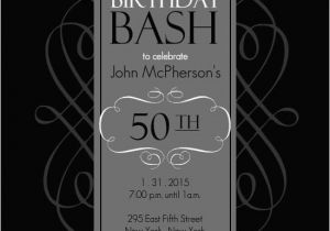 50th Birthday Party Invitation Templates A Cake