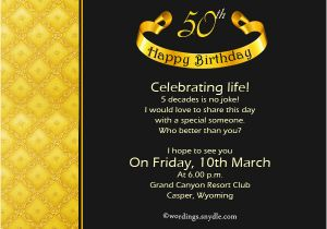 50th Birthday Party Invitation Wording Ideas Oxsvitation Com