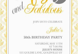 50th Birthday Party Invitations Free Printable
