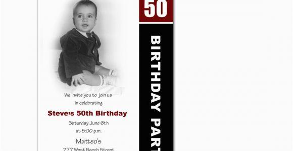 50th Birthday Party Invitations with Photo Photo Birthday Invitation 50th Birthday Party by Hdinvitations