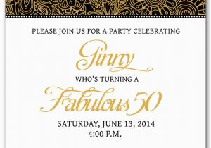50th Birthday Party Invites Free Templates Invitation Printable My