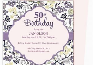 50th Birthday Sayings For Invitations Invitation Template Oxsvitation Com