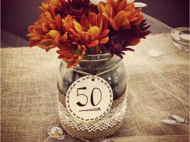 50th Birthday Table Decorations Ideas 50th Wedding Anniversary Party