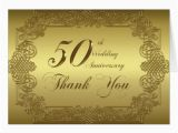 50th Birthday Thank You Cards 50th Wedding Anniversary Thank You Note Card Zazzle