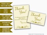 50th Birthday Thank You Cards Ivory Wedding Anniversary Thank You Cards Gold 50th