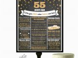 55th Birthday Gifts for Him 55th Birthday Chalkboard Poster 55 Birthday Party Ideas