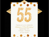 55th Birthday Party Invitations Free Golden 55 Invitations Milestone Birthdays