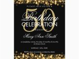5oth Birthday Invitations Elegant 50th Birthday Party Sparkles Gold Invitation