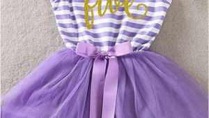5th Birthday Dresses Fifth Birthday Outfit 5th Birthday Dress Purple Tutu for