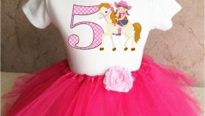 5th Birthday Girl Tutu Outfits Cowgirl Pink Cow Girl Horse Girl 5th Fifth Birthday Tutu