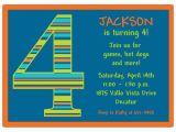 5th Birthday Invitation Wording Boy Birthday Boy Stripes 4th Birthday Invitations Paperstyle