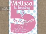 5th Birthday Invitation Wording for Girl 5th Birthday Invitations Printable Fifth Birthday Invitation