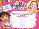 5th Birthday Invitation Wording for Girl Free Dora the Explorer Birthday Invitations Template