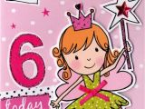 6 Year Old Birthday Card Messages Girls 6th Birthday Card Six today Cards Love Kates