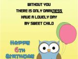 6 Year Old Birthday Card Messages Happy 6th Birthday Wishes and Messages Occasions Messages