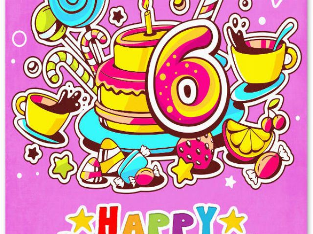Download By SizeHandphone Tablet Desktop Original Size Back To 6 Year Old Birthday Card Messages