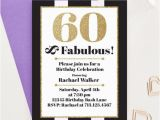 60 and Fabulous Birthday Invitations 60 and Fabulous Milestone Birthday Invitations Adult