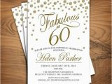 60 and Fabulous Birthday Invitations 60th Birthday Invitation Any Age Sixty Fabulous White