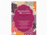 60 and Fabulous Birthday Invitations Fall 60th Birthday Invitation Sixty Fabulous by Purplechicklet