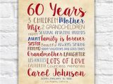 60 Birthday Gift Ideas for Her Birthday Gift for Mom 60th Birthday 60 Years Old Gift for