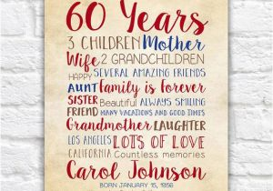 60 Birthday Gift Ideas For Her Mom 60th Years Old