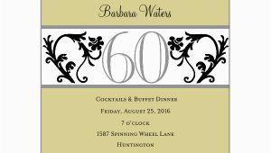60 Birthday Invitation Wording Elegant Vine Chartreuse 60th Birthday Invitations Paperstyle