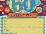 60 Year Old Birthday Invitations Free Printable 60th Birthday Invitations Bagvania Free