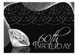 60th Birthday Decorations Black And White Diamond Invitations 5 Quot X 7