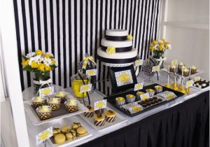 60th Birthday Decorations Black And White Kara 39 S Party Ideas Yellow