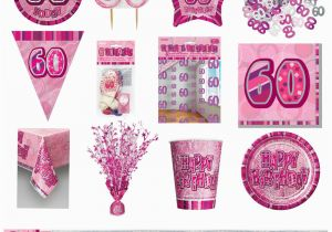 60th Birthday Decorations Cheap Pink Glitz Party Supplies