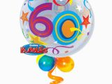 60th Birthday Flowers and Balloons 60th Birthday Bubble Balloon Bouquet Party Fever