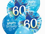 60th Birthday Flowers and Balloons Blue 60th Birthday Balloon Bouquet Party Fever