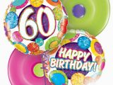60th Birthday Flowers and Balloons Get Well Birthday Thank You Congratulations Balloons