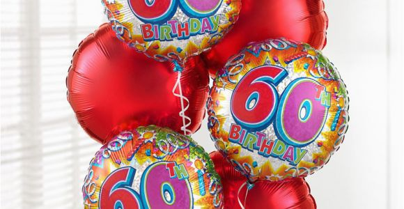 60th Birthday Flowers and Balloons Uk Gift Delivery 60th Birthday Balloon Bouquet isle Of