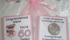 60th Birthday Gifts for Him Ebay Personalised Lucky Sixpence Womens 50th 60th Birthday Gift