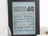 60th Birthday Ideas for Him Uk 60th Birthday Gifts Present Ideas for Men Chatterbox Walls