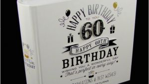 60th Birthday Ideas for Him Uk Signography Photo Album 4×6 60th Birthday