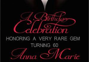 60th Birthday Invitation Cards Design Invitations Adult