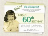 60th Birthday Invitation Wording Samples Surprise 60th Birthday Invitation Digital Printable File