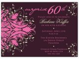 60th Birthday Invitations for Her andromeda Pink Surprise 60th Birthday Invitations Paperstyle