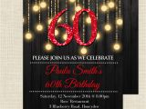 60th Birthday Invitations for Her Red 60th Birthday Invitations 60th Birthday Invitations for