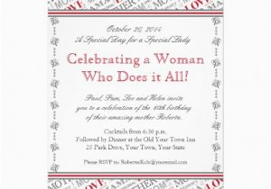 60th Birthday Invitations For Mom Invitation From Children Mother 5 Quot X 7