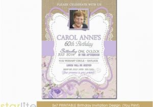 60th Birthday Invitations For Women Invitation Ladies
