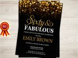 60th Birthday Invitations for Women Surprise 60th Birthday Invitation for Women Sixty and