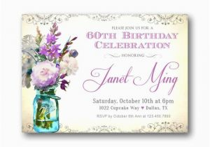 60th Birthday Invitations For Women 39 S Any Age Vintage