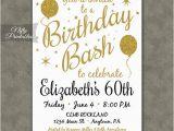 60th Birthday Invitations Free 60th Birthday Invitations Printable 60 White Gold